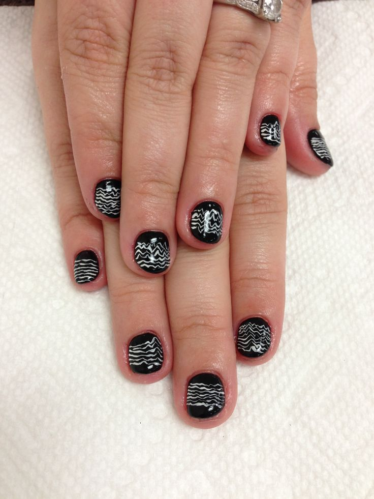 Black gel nails! | nails and eyelash extensions by Mai | Pinterest