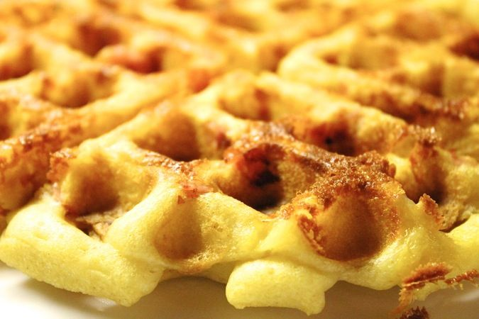 Ham and Cheese Waffles | Rise N Shine | Pinterest