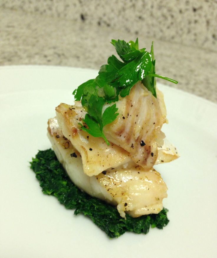 What s for dinner cod with parsley coulis parsley salad super easy