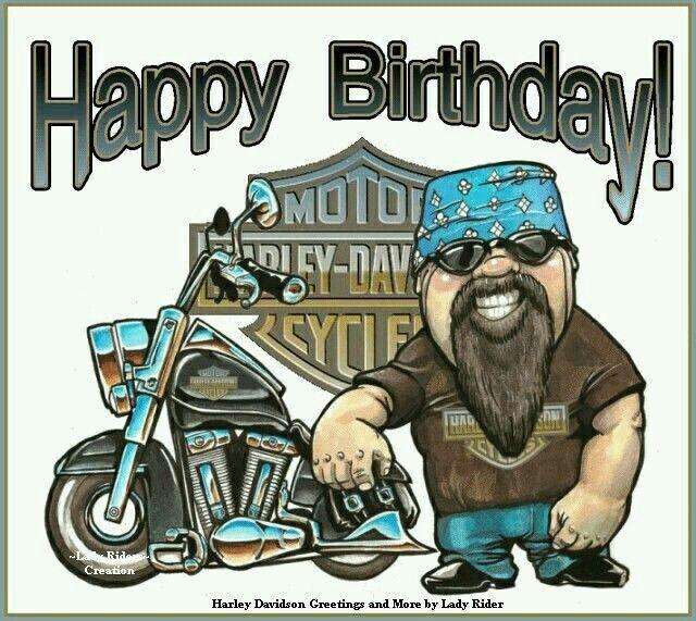 С днём рождения открытки для байкеров 13