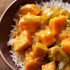 Thai Red Curry with Kabocha Squash Recipe Recipe-use cauliflower rice ...