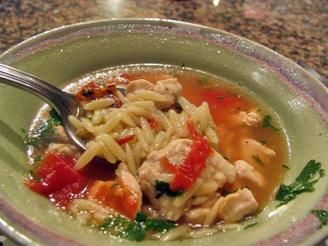 Yucatan Style Chicken Soup With Orzo And Lime