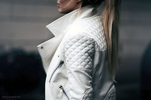 styletrove: TREND LOVE: White quilted-leather...