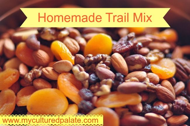 Homemade Trail Mix ~ Featured at Nourishing Pin It Party #6