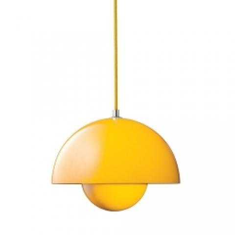 Yellow Panton flowerpot pendant light, £185,All Lit Up