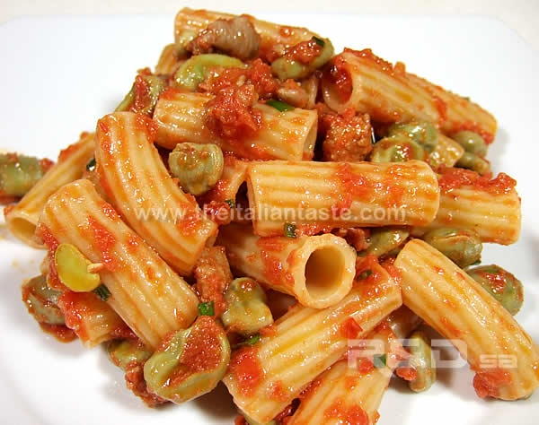 Fresh Pasta With Favas, Tomatoes, And Sausage Recipes — Dishmaps