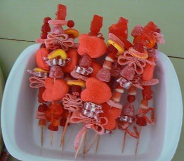 Little Birdie Secrets: candy kabobs and pipe cleaner doggies {valentine ideas}