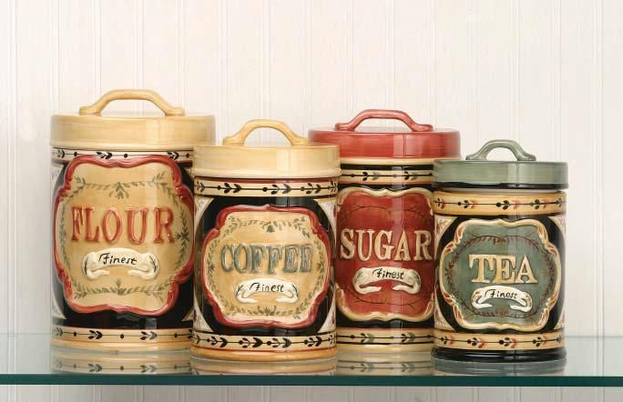 elegant country store kitchen canister set flour sugar