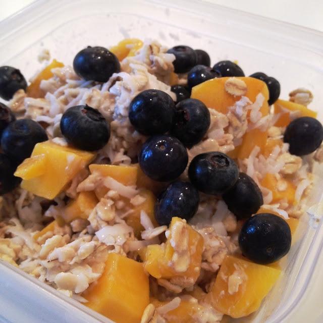 Mango-Coconut Overnight Oatmeal, no cook - regular oats, milk of ...