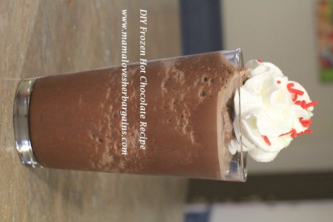 Super simple Frozen Hot Chocolate Recipe - so easy, SO good!