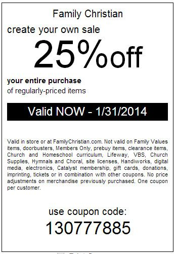 Online coupon codes for lifeway christian bookstore