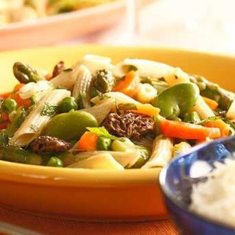 HarperCollins Publishers, 2010). | Penne tossed with spring vegetables ...