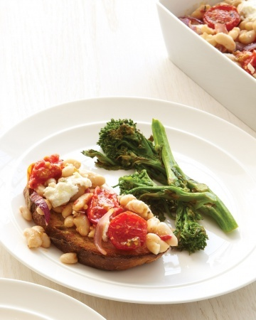 White Bean-and-Tomato Casserole with Broccoli Rabe