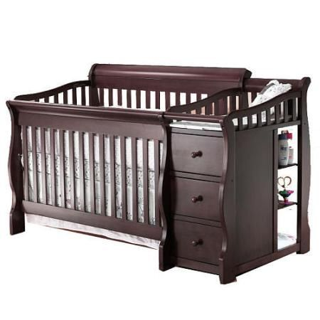Babies R Us Changing Table Dresser Dark crib and diaper changing station