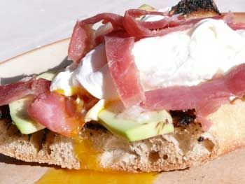 RECIPE FROM SPAIN: Serrano ham, avocado and poached egg tostada