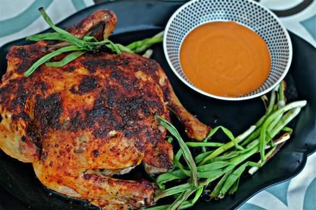Spanish Roast Chicken with Romesco and Grilled Onions | Serious Eats ...