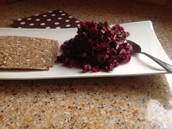 Beet Tartare with Dijon and Capers | Recipe