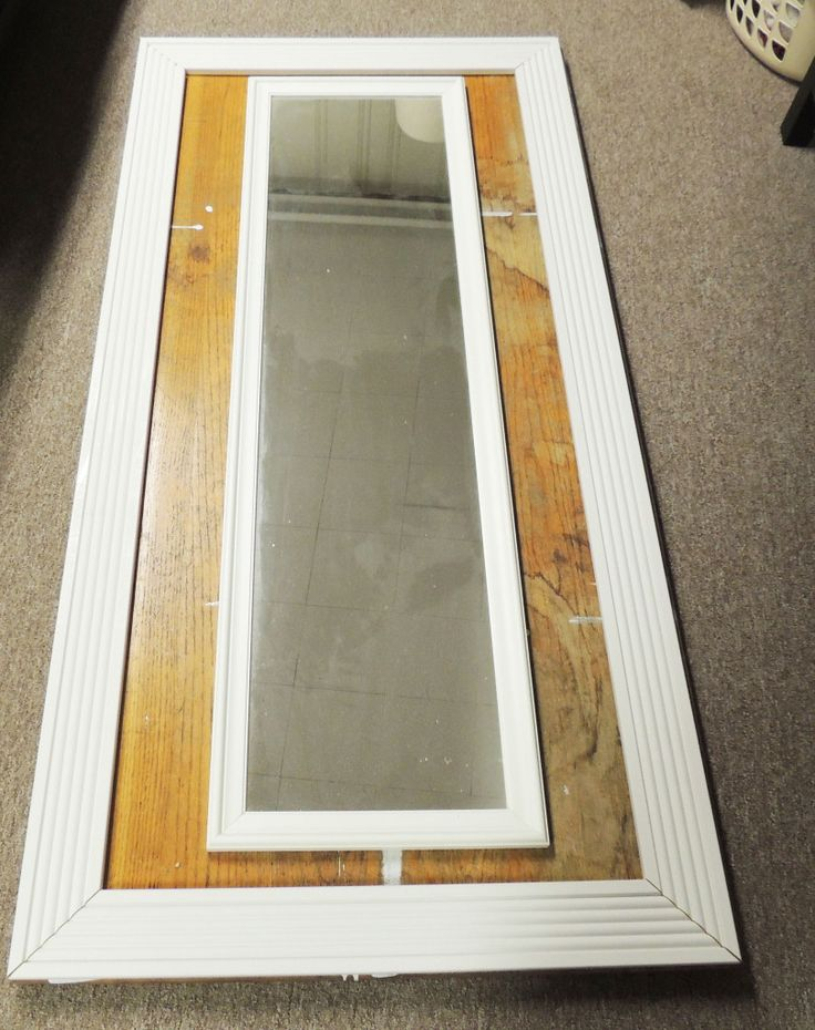 idea for floor mirror mirror mounts to plywood backing with framed ...