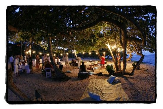 Campout Summer Wedding  A beach picnic for a rehearsal dinner No