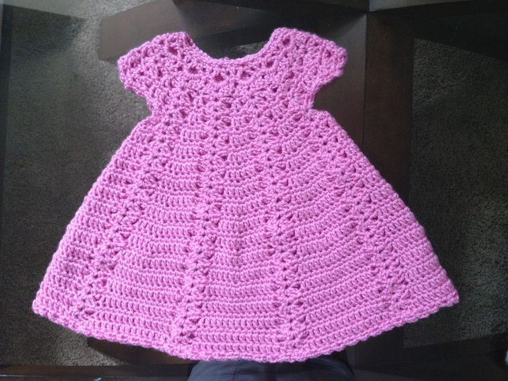 Crochet Items : Crocheted baby dress Crochet Baby Items Pinterest