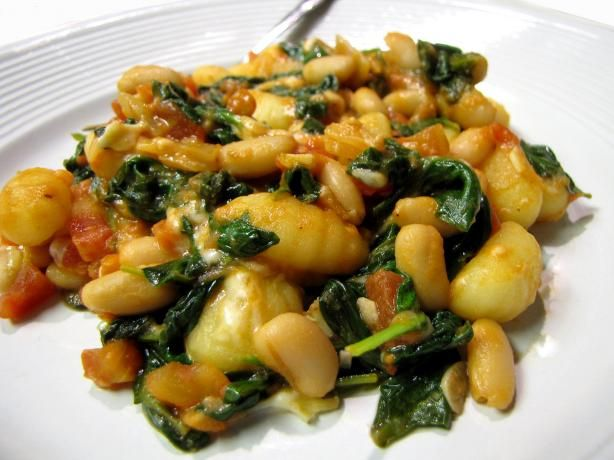 ... white beans white beans skillet gnocchi with chard and white beans