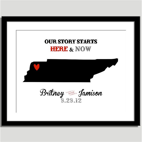Our story starts here and now Can do any city by CoCoStineDesigns, $15.00