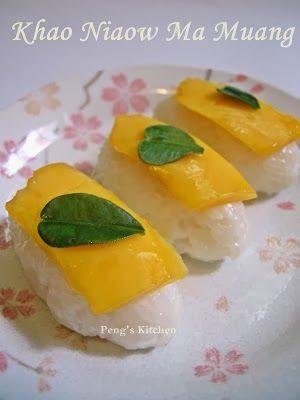 Peng's Kitchen: Thai Mango Sticky Rice