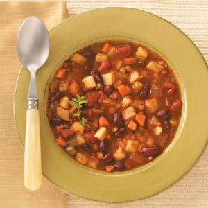 Potato & Lentil Stew - modifications: used sweet potatoes, black beans ...