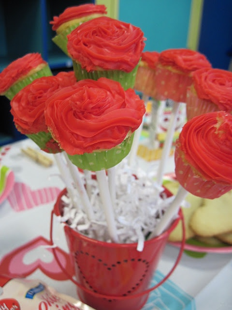 Cute Cupcake Flowers in a Flower Pot!