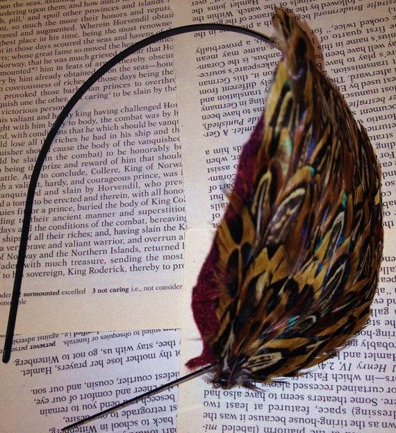 Feather Headband by InnovativeTrinkets on Etsy, $10.00