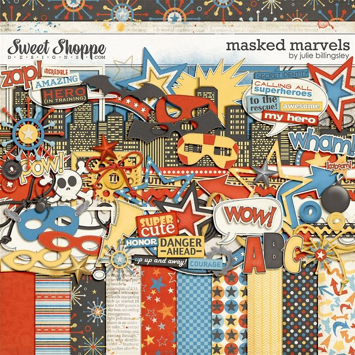 Masked Marvels by Julie Billingsley Digital Scrapbooking: Kits Pi ...