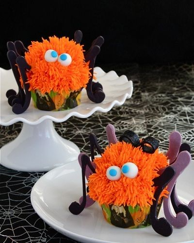 Spooky Spider Cupcakes | One Cupcake at a Time | Pinterest