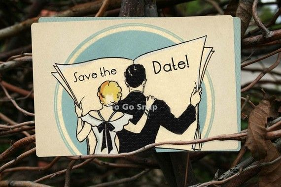 100 Art Deco Save the Date Cards Wedding Invitations by GoGoSnap, $90.00