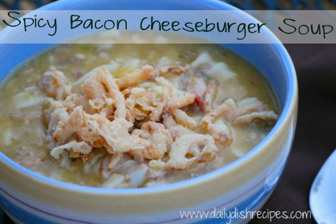bacon cheesburger soup 006sm Warm You Up Spicy Bacon Cheeseburger Soup ...
