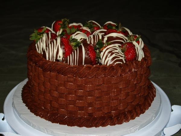 strawberry basket weave cake | Pasteleria | Pinterest