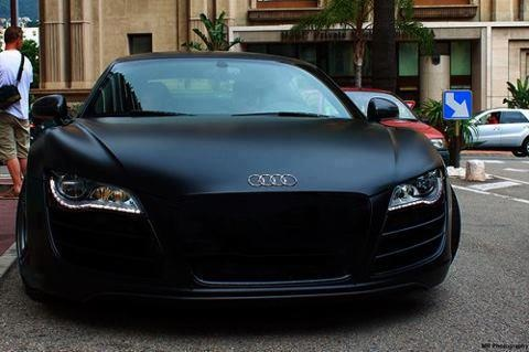 Audi r8 in matte black ridiculous i need one