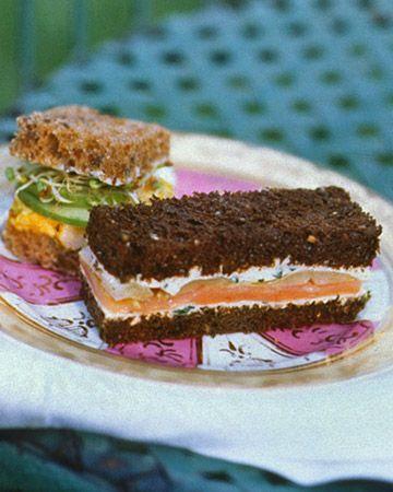 Smoked Salmon and Endive Tea Sandwiches - Martha Stewart Recipes