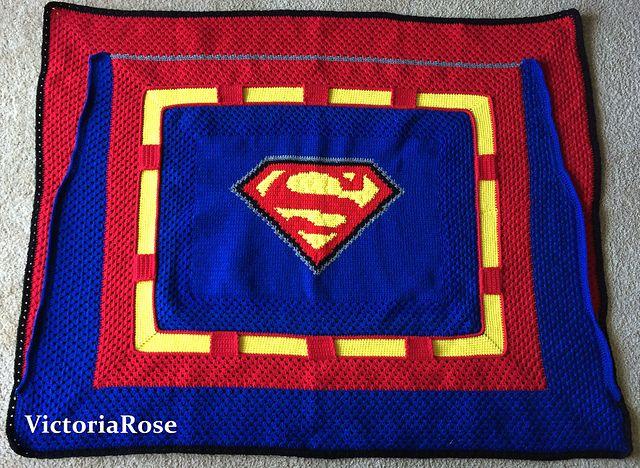 Crochet Superman Blanket pattern by Nicole Pellegrino