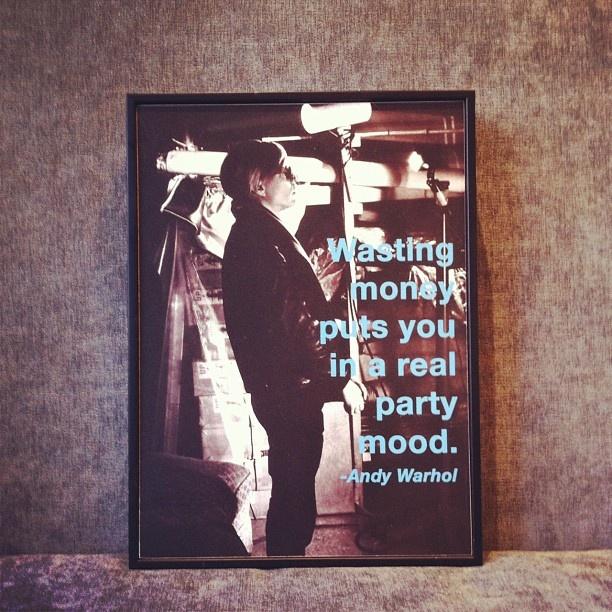 Andy Warhol always says it best. #showroom #wisewords