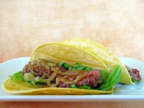 Chipotle Steak Tacos with Caramelized Onions | Recipe