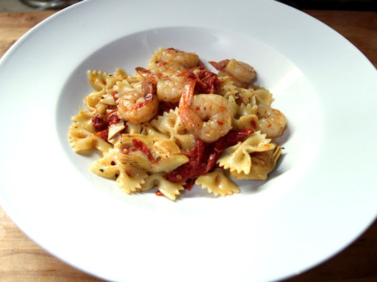 Pasta with Shrimp, Artichokes, and Sundried Tomatoes by Herbie Likes ...