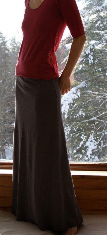 Hemp and Organic Cotton Samadhi Maxi Skirt by MtnLotus on Etsy, $80.00
