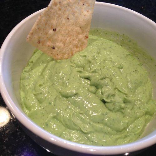 """Creamy Avocado Yogurt Dip ** Don't buy """"guacamole dip"""" at the s..."""