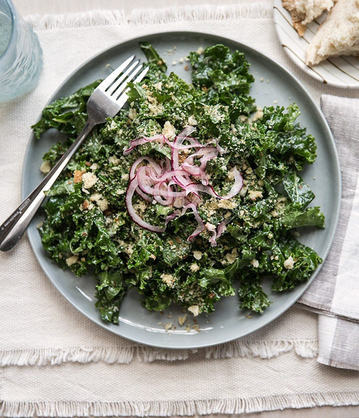 Recipe for Kale Caesar Salad | taste | Pinterest