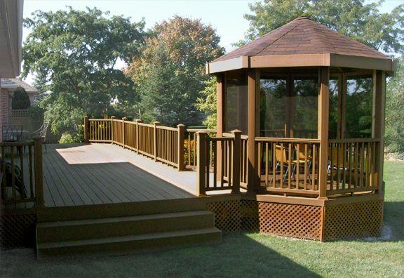 Long gazebo deck yard stuff pinterest for Decks and gazebos