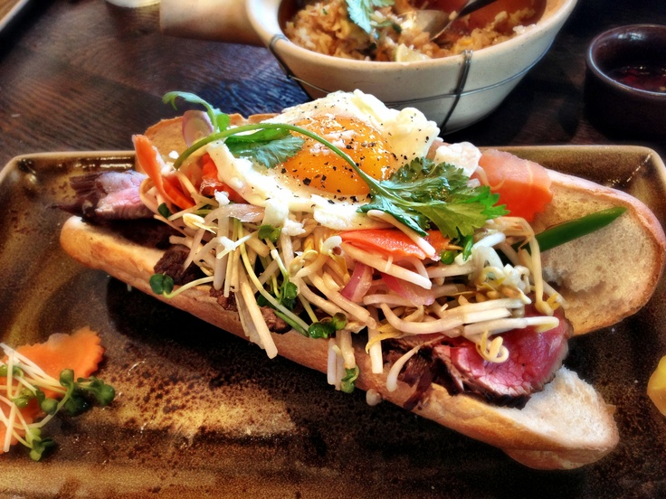 Chargrilled Flank Steak Banh Mi @ Khong River House