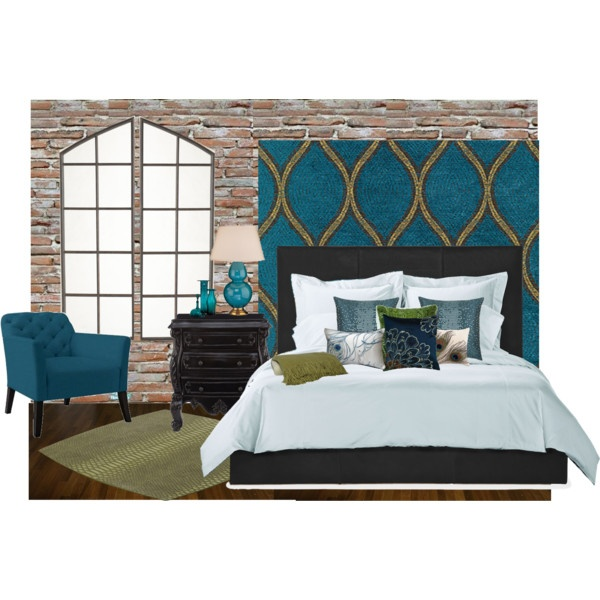 peacock inspired bedroom polyvore master bedroom vision