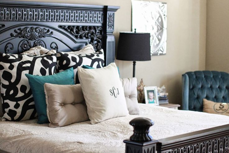Black And White With Pops Of Color Bedrooms Pinterest