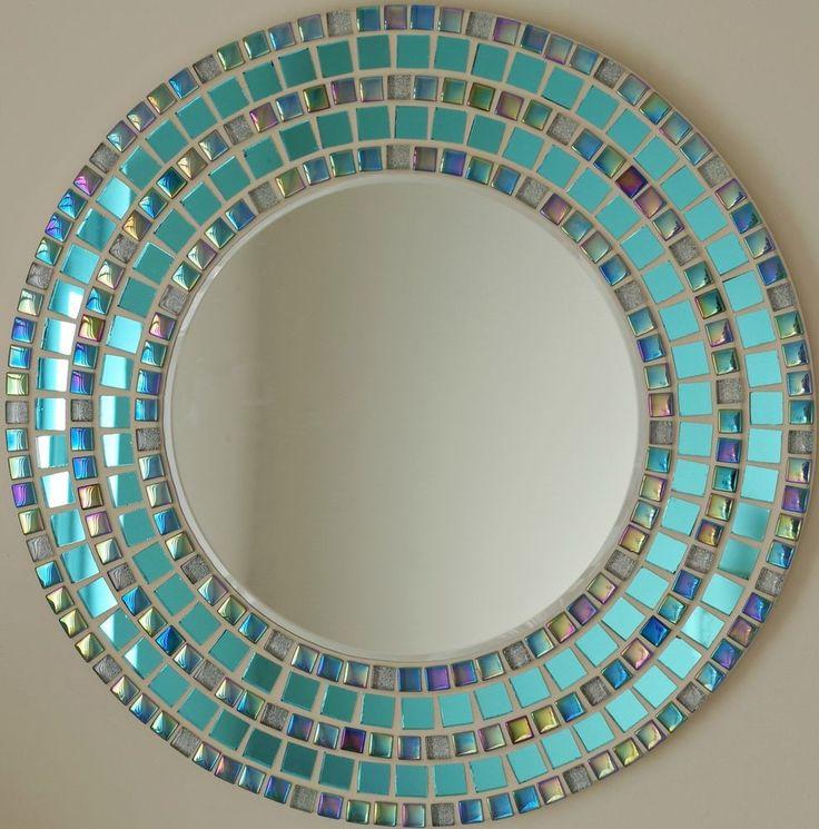 Mosaic bathroom mirrors