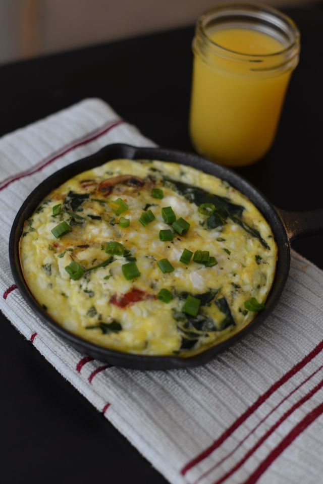 Loves M- Spinach Mushroom Frittata | Deliciousness | Pinterest